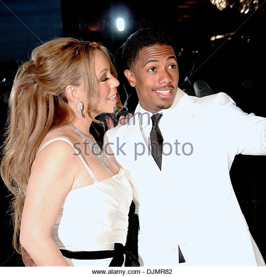 Mariah Carey and husband Nick Cannon celebrity couple celebrate their fourth anniversary of marriage Paris France - Stock Image