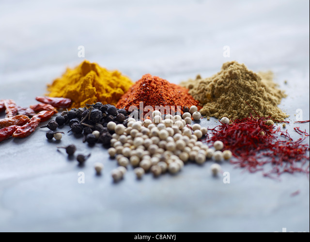 Selection of spices - Stock Image