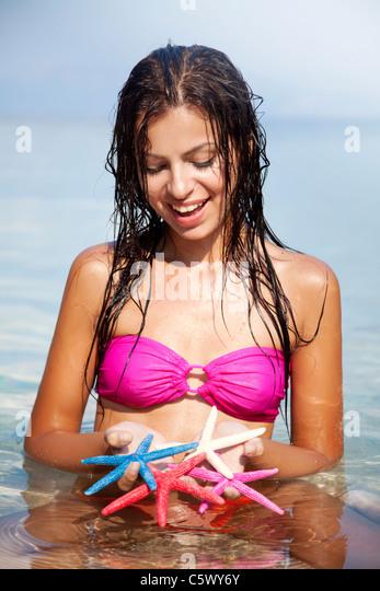 fun in the sea - Stock Image