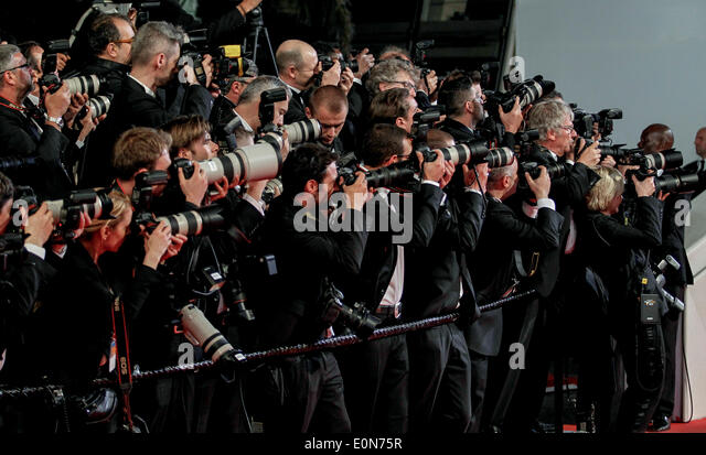 RED CARPET PRESS PHOTOGRAPHERS CAPTIVES PREMIERE 67TH CANNES FILM FESTIVAL CANNES  FRANCE 16 May 2014 - Stock Image