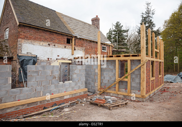 Brick Timber Frame Homes : House extension stock photos