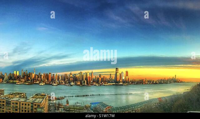New York skylines panorama view - Stock Image