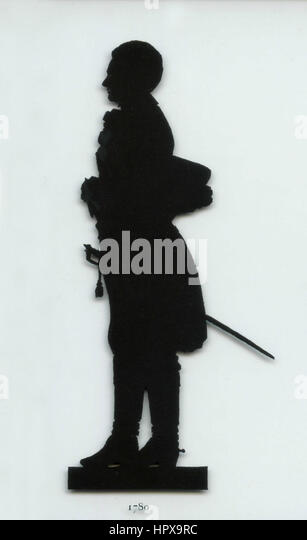Herzog Karl August von Wemar silhouette - Stock Image