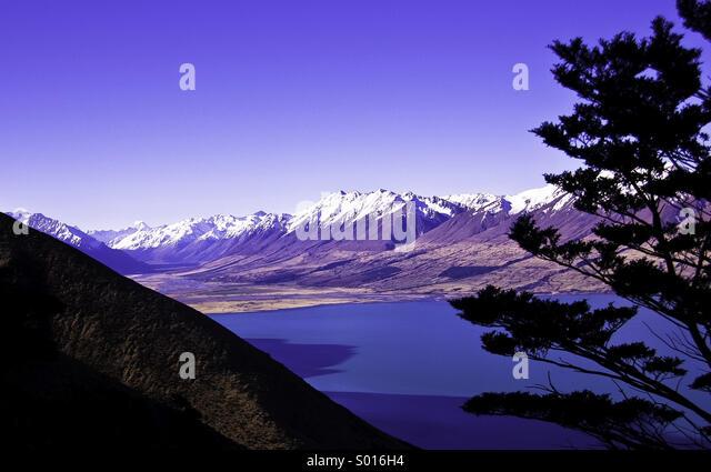 Lake Ohau, New Zealand - Stock Image