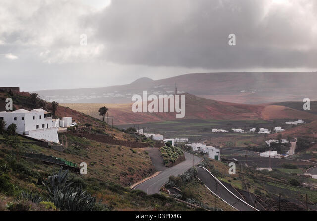 teguise in lanzarote, canary islands, spain - Stock Image