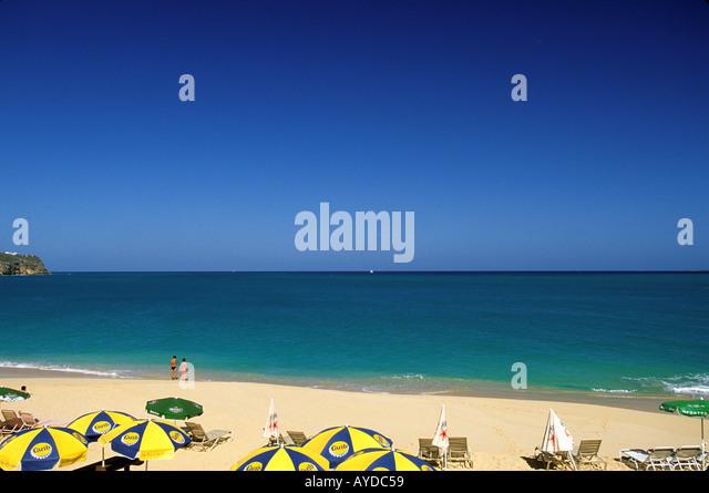 St Maarten beach - Stock Image