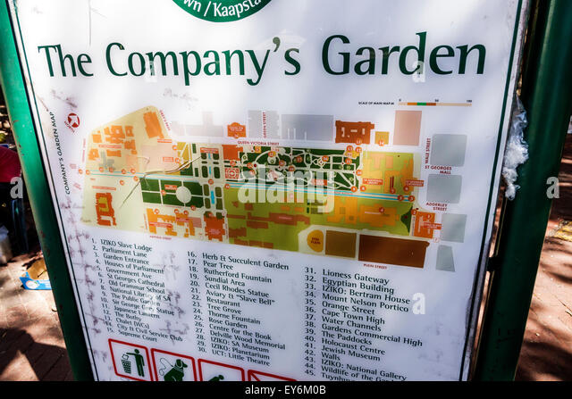 South Africa African Cape Town City Centre center Government Avenue The Company's Garden sign information public - Stock Image
