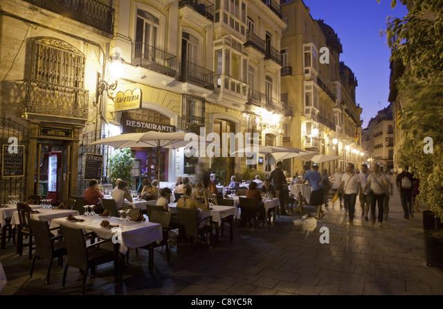 Restaurant El Generalife, Plaza de la Virgin, Valencia, Spain - Stock Image