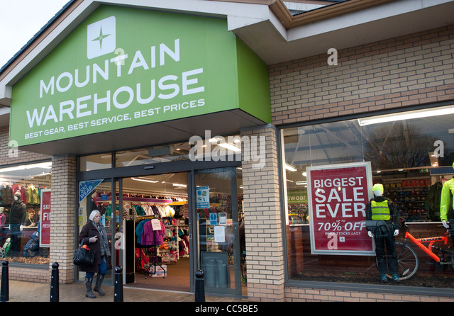 Mountain clothing store