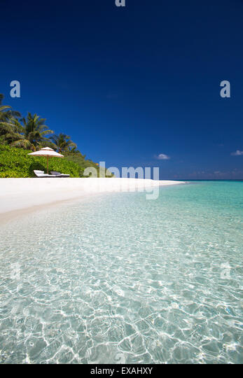 Beach in the Maldives, Indian Ocean, Asia - Stock Image