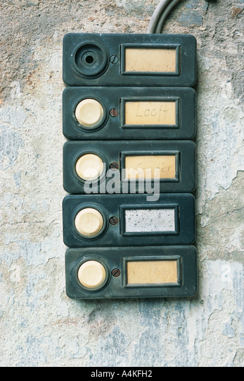 Intercom buttons - Stock Image