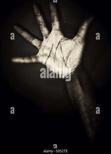 Black hand - Stock Image