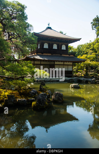Kannon-den temple structure in the Ginkaku-ji Zen Temple, UNESCO World Heritage Site, Kyoto, Japan, Asia - Stock Image