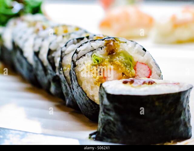 California sushi roll - Stock Image