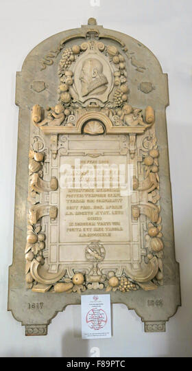 John Napier Mathematician memorial, St Cuthberts Church, Edinburgh,Lothian,Scotland,UK - Stock Image