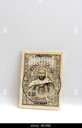 Stamp Algeria - Stock Image
