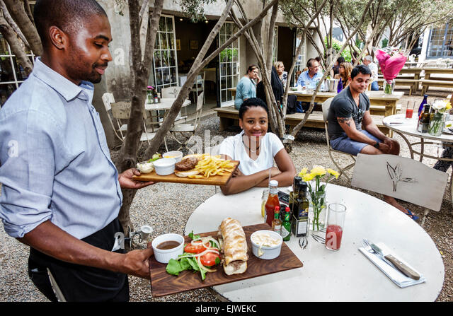 Johannesburg South Africa African Maboneng District Arts on Main gentrified urban neighborhood Fox Street Canteen - Stock Image