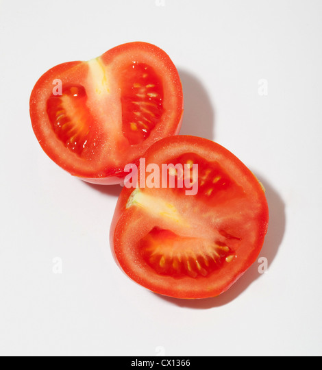 Two tomato halves - Stock Image