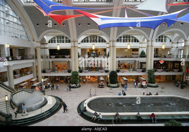 Cleveland Ohio Tower City Center shopping - Stock Image