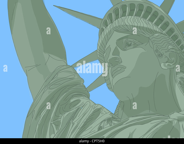 Statue of liberty - Stock Image