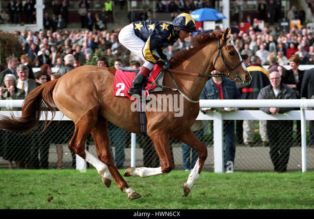 BOURGEOIS RIDDEN BY R.WINSTON DONCASTER RACECOURSE DONCASTER 23 March 2002 - Stock Image