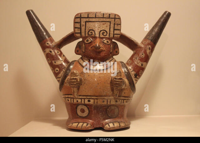 Peruvian Northern Huari Pottery Fusion Epoch - Stock-Bilder