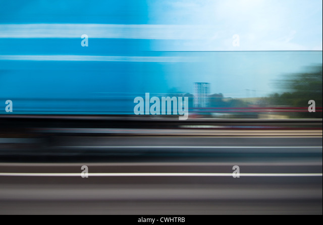 blurred motion,on the move,driving,abstract - Stock Image