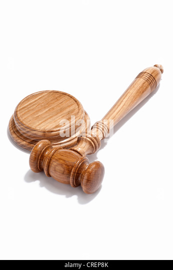 A judge's gavel - Stock Image