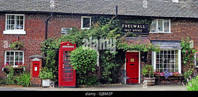 Old Post Office, Bell Lane, Thelwall, Warrington, Cheshire, England, UK - Stock Image
