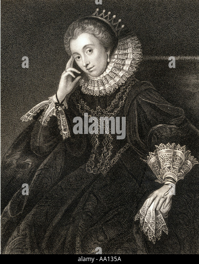 LUCY HARINGTON 1581 1627 Wife  of Edward Russell 3rd Earl of Bedford - Stock Image