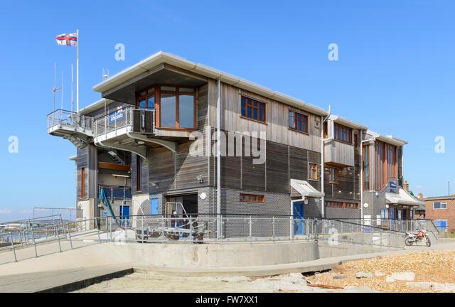 RNLI Shoreham Lifeboat Station in Shoreham by Sea, West Sussex, England, UK. - Stock Image