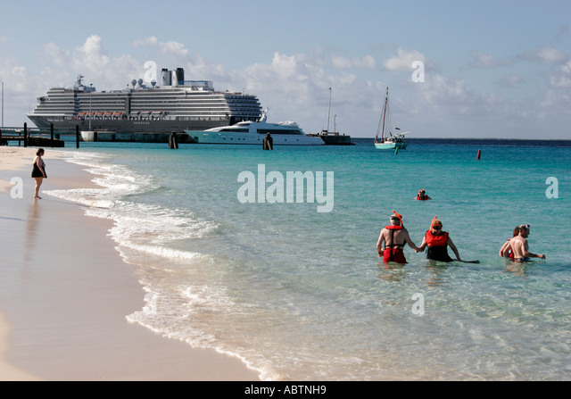 Grand Turk Cockburn Town Columbus Landfall National Park Governor's Beach Turks Island Passage ms Noordam - Stock Image