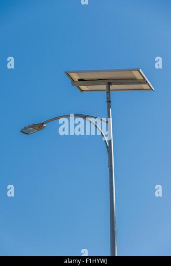 Solar Panel On Lamp Post Stock Photos Amp Solar Panel On