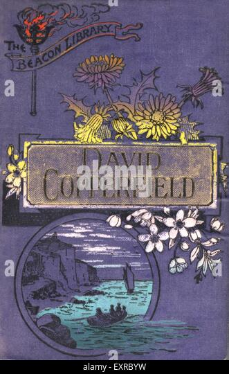 1930s UK David Copperfield Book Cover - Stock Image