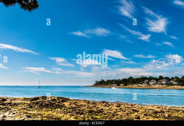 Bay and river at Benodet, Brittany, France - Stock Image