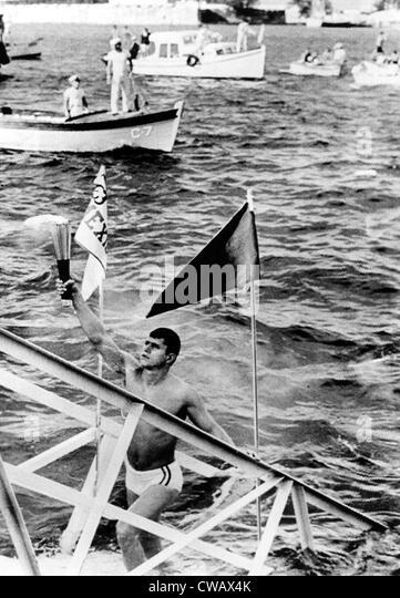 1968 Olympics, Olympic Torch reaches Mexican soil, Veracruz, Mexico, 10-06-1968.. Courtesy: CSU Archives / Everett - Stock Image