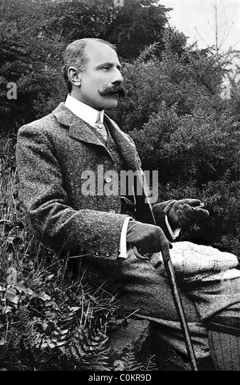 Edward Elgar, English composer - Stock Image
