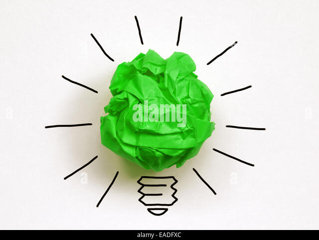 Think green - Stock Image