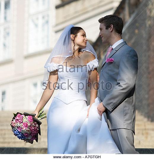 Portrait of a bride and groom - Stock-Bilder