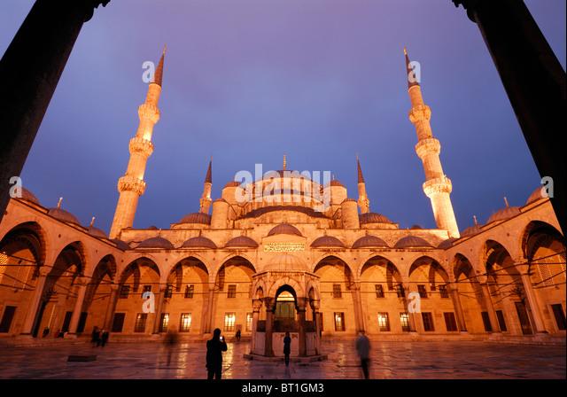 Istanbul. Turkey. Blue Mosque, Sultanahmet. - Stock-Bilder