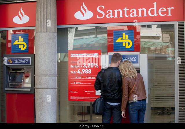 Santander branch stock photos santander branch stock for Horario oficinas banco santander barcelona