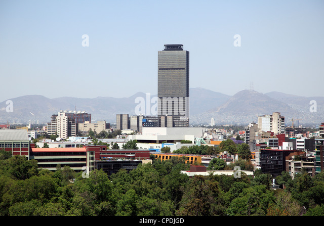 Mexico City skyline, Mexico City, Mexico, North America - Stock Image