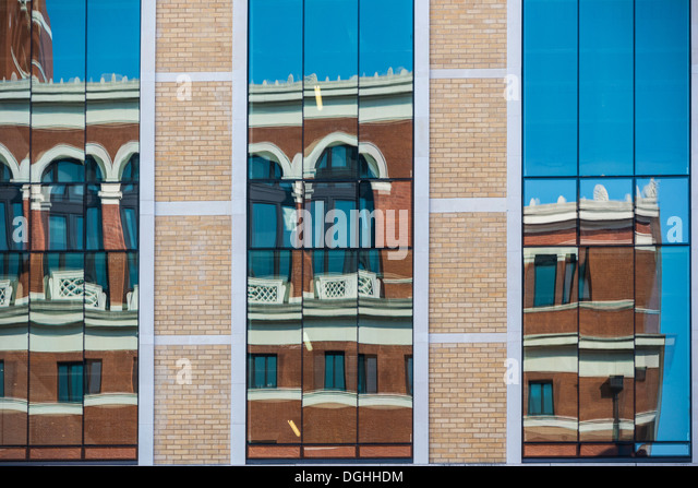 Abstract of Brindleyplace, Birmingham, West Midlands, England, UK - Stock Image