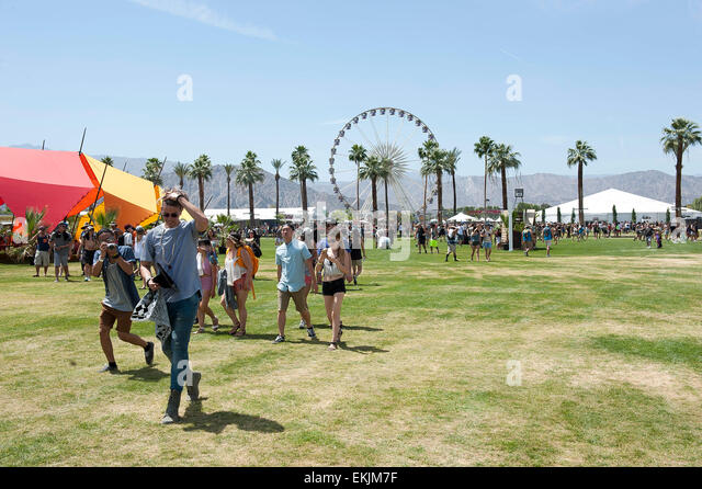 Indio, California, USA. 10th April, 2015. General Atmosphere of the 2015 Coachella Music & Arts Festival that - Stock Image