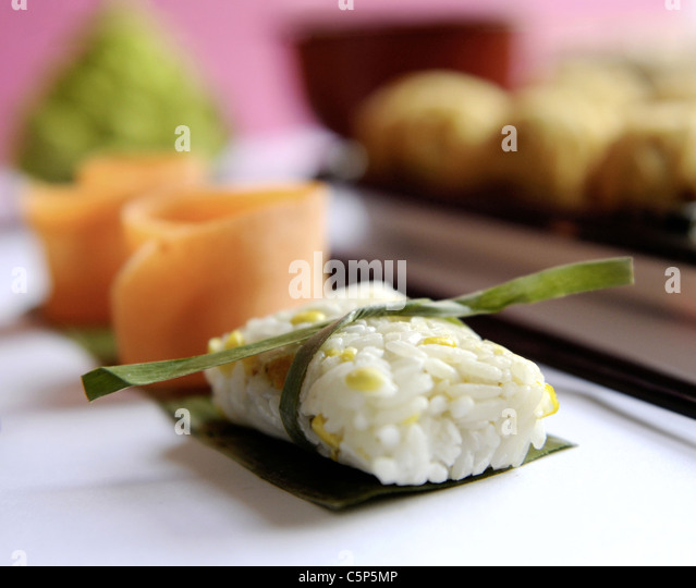 Rice sweet corn dumplings - Stock Image