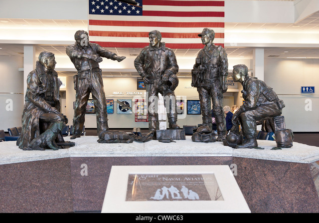 The Spirit of Naval Aviation by Sandra Van Zandt on display at the National Museum of Naval Aviation in Pensacola, - Stock Image