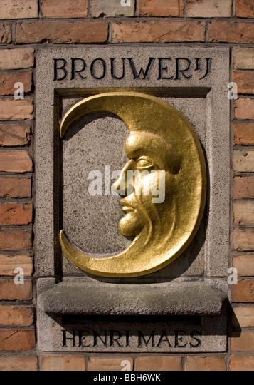 Brewery De Halve Maan, also knows as Breweryj Henri Maes, Brughes (Brugge), Belgium. - Stock Image