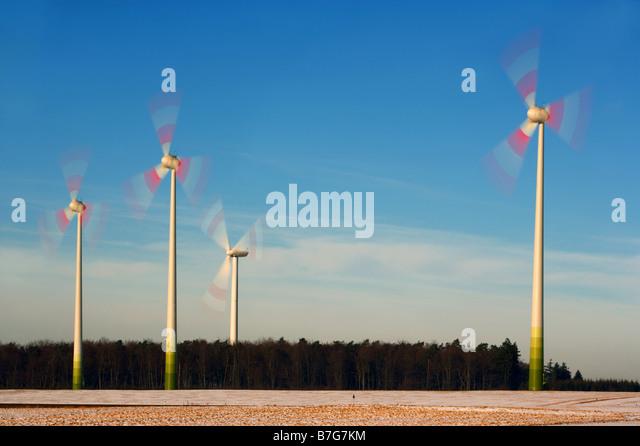 Wind energy facility - Stock Image