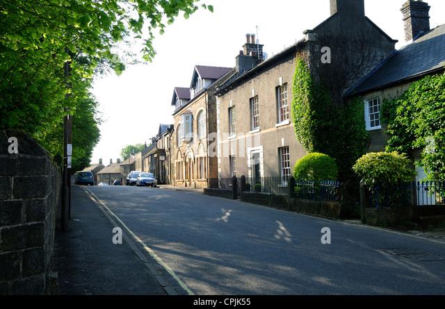 Eyam Plague Village Derbyshire England.Main Street. - Stock Image