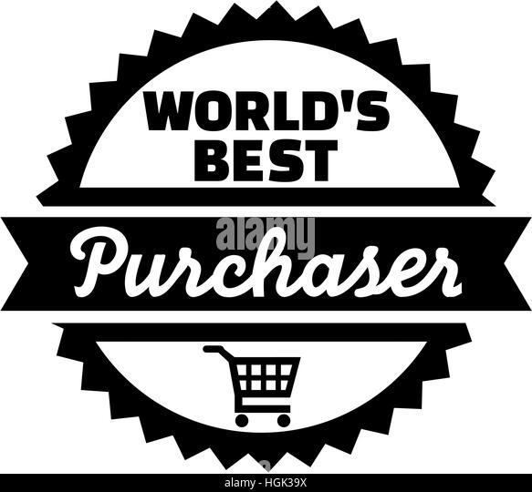 World's best purchaser button - Stock Image